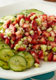 Strawberry, Cucumber & Mint Salad