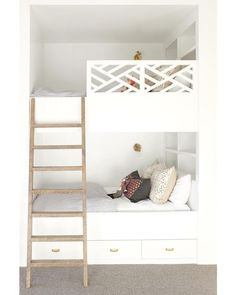 """Visit our web site for more details on """"bunk bed designs for teens"""".Visit our web site for more details on """"bunk bed designs for teens"""". It is actually an excellent location Bunk Beds Built In, Bunk Beds With Stairs, Kids Bunk Beds, Tiny Bedroom Design, Bunk Rooms, Bunk Bed Designs, Loft Spaces, Kid Spaces, Kids Bedroom"""