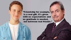 """What friendship is: 