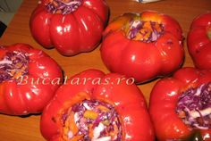 Pickels, Romanian Food, Hungarian Recipes, Fermented Foods, Canning Recipes, Diy Food, Preserves, Stuffed Peppers, Food And Drink
