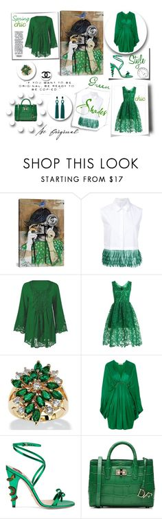 """""""Be original"""" by outfitsloveyou ❤ liked on Polyvore featuring iCanvas, Delpozo, WithChic, Palm Beach Jewelry, STELLA McCARTNEY, Gucci, Diane Von Furstenberg and Oscar de la Renta"""