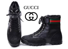 Gucci AAAA High Top Mens Shoes sale black 006