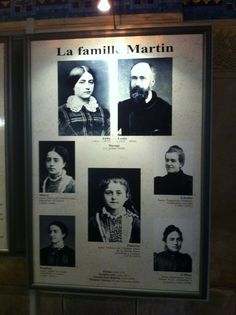 St Therese of Lisieux, her parents Blessed Zelie and Louis Martin, and her siblings