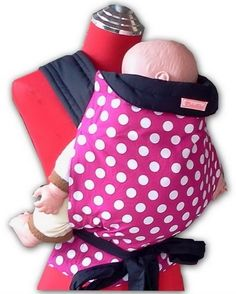 Mei Tai Baby Sling - Pink with White Polka Dots