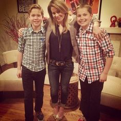 Candice Cameron Bure with her and hubby's son's Mark and Lev