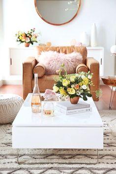 Living Room Reveal in Partnership with HomeSense Canada   A Bohemian, Mid Century Modern Apartment in Calgary, Alberta, Canada // JustineCelina.com