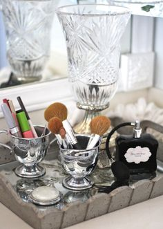 Great idea for makeup organizing