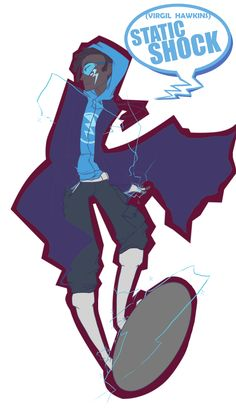 Let it be known now that as a kid that pratically grew up on the WB channel, Static Shock and Batman (Batman Beyond version) were my asklkdjawklsda FAVO. Virgil Hawkins, Dc Icons, Static Shock, Comic Boards, Legion Of Superheroes, Comic Book Characters, Fictional Characters, Black Artwork, Batman Beyond