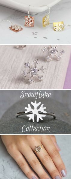 Beautiful snowflake-inspired jewellery - click through for more. #affiliate