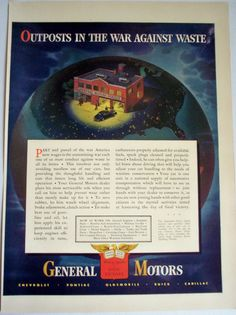=-=1942 General Motors AD Outpost in the War