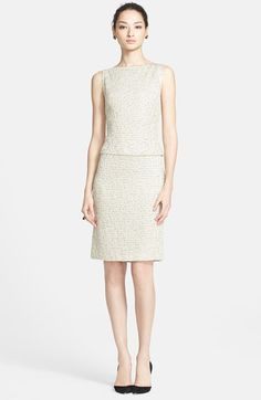 St. John Collection Leopard Jacquard Knit Mock Two-Piece Dress available at #Nordstrom