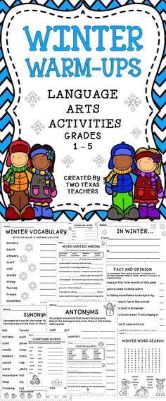 Classroom Warm Up Ideas ~ Language arts five minute warm ups in the