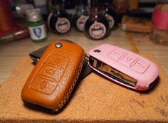 Leather car key covers #swag