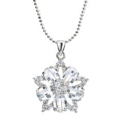 "Pugster Clear Diamond Accent Cz Flower Wedding Pendant Necklace Woman 18"" Gift Pugster. $23.99. Weight: 6.4. Metal: Metal, Crystal,. Color: Silver. Size: 20.85*6.33*26.81. Save 62%!"