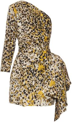ROBERTO CAVALLI One-shoulder cheetah-print silk dress  https://api.shopstyle.com/action/apiVisitRetailer?id=514312321&pid=uid2500-37484350-28