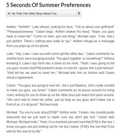 5SOS preference on wattpad---- more just click the pic and you get it on wattpad! I did nott make these imagines! But anyways enjoy! I know I did ;D