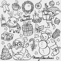 Find Christmas Doodles stock images in HD and millions of other royalty-free stock photos, illustrations and vectors in the Shutterstock collection. Thousands of new, high-quality pictures added every day. Christmas Sketch, Christmas Doodles, Christmas Drawing, Christmas Coloring Pages, Illustration Noel, Christmas Illustration, Christmas Colors, Christmas Art, Vector Christmas