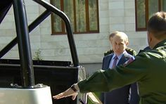 WATCH: Russian President Vladimir Putin inspected new vehicles designed for the country's armed forces.