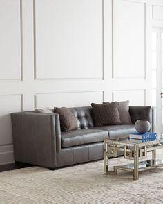 Hayden Tufted-Leather Sofa - $2,699.00