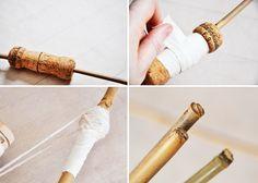 Make a kid' bow and arrow set
