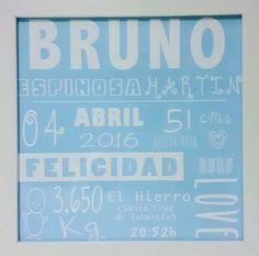 Esta fue la lámina que regalamos a nuestros #Lovers S+JL, por el nacimiento del pequeño Bruno....¿Quieres la tuya?  100% original 100% personalizado 100% LOVE  LOVE  #love #amor #bebe #baby #born #blue #chocolate #bautizo #babyshower #wedding #weddingplanner #Cádiz #destinationwedding #2017 #wedding #boda #bodasbonitas #bodasunicas #handmade #diy #branding #diseño #blackboard #chalk