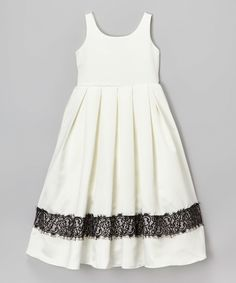 25b9ec9dd6 Another great find on Cinderella Couture Ivory   Black Lace-Trim Dress -  Toddler   Girls by Cinderella Couture. Bink Spad · Zulily Finds