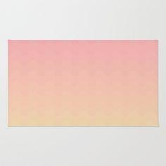 Gradient pink Area & Throw Rug by Julia Brnv - $28.00