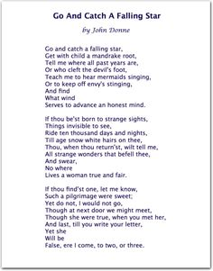 John Donne. Great poem, and it reminds me: HOWLS MOVING CASTLE