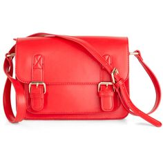 In So Mini Words Bag in Red ($60) ❤ liked on Polyvore
