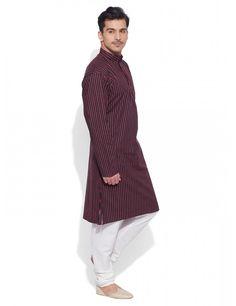ac3d1a926d3 Buy Dark Scarlet Mens Cotton Long Kurta Online India
