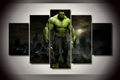 Hulk Movie Group Painting children's room decor print poster picture canvas