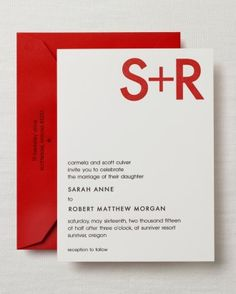 Invitation with Monogram