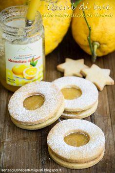 Occhi di bue ai pistacchio con marmellata ai limoni di Amalfi