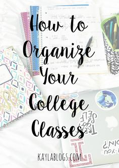This post is all about how I organize my college classes. From labeling notebooks to color coding my notes!