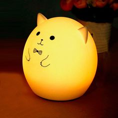 $9.99 Colorful Pig Cartoon USB Charging Ombre Night Light
