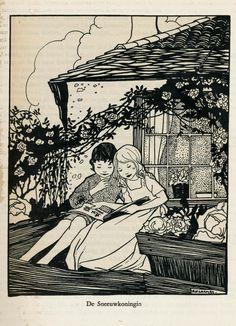 Rie Cramer sprookjes van Anderson 1915 ,ill de sneeuwkoningin