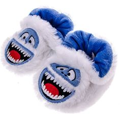 Lovely Abominable Snowman Pre-walk Slippers Small 3-4 Rudolph Red Nose Reindeer Plush Kids' Clothing, Shoes & Accs Unisex Shoes