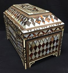 For Sale on - An Ottoman, Turkish, Scribe's box, the wood carcass inlaid with tortoiseshell and mother-of-pearl.