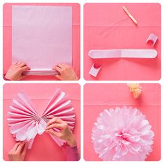 DIY Party Decorations These might be easier to make than the cupcake papers and coffee filters decor. If the ceilings are not too tall we could do this in Red, White, and Silver (large paper pom poms) Diy Party Decorations, Birthday Decorations, Bachelorette Decorations, Casino Decorations, Decor Diy, Decor Room, Graduation Ideas, Paper Decorations, Diy Home