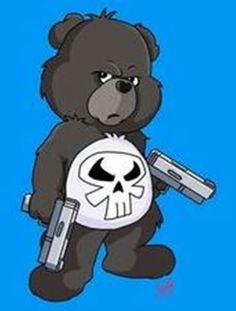 Care Bear Tattoos, Teddy Bear Tattoos, Bear Cartoon, Cartoon Art, Cartoon Characters, Classic Cartoons, Cool Cartoons, Evil Teddy Bear, Tattoo Schwarz