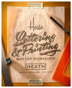 House Lettering & Printing Master Workshop Sketch Photo