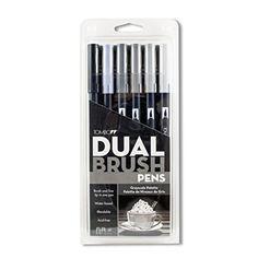 Tombow Dual Brush Pen Set, 6-Pack, Grayscale Colors (56166) Tombow http://www.amazon.com/dp/B0044JOPZY/ref=cm_sw_r_pi_dp_d1rDub0KEYEN3
