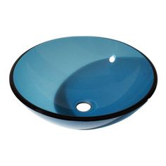 Brand New at Hot&Cold Plumbing Supply Kitchen & Bath Studio! Avanity 16.5 In. Round Glass Vessel Sink in Blue