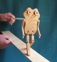 Limberjack Frog with dancing board and stick by pipergrove on Etsy, $36,00 #woodworkingideas