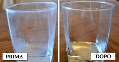 Cleaning hard water stains from glassware