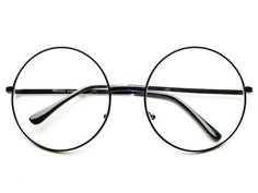 LARGE CLEAR LENS RETRO ROUND GLASSES IN BLACK R321