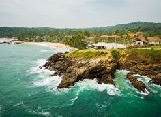 Anantara Peace Haven Tangalle Resort Sri Lanka water sky outdoor Nature Coast Sea shore geographical feature body of water Ocean mountain bay cove cliff Beach cape islet terrain wave Island hillside