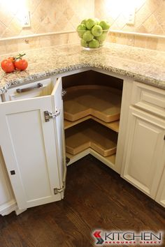 Lazy susan in RTA corner cabinet