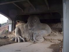 Troll under Fremont Bridge in Seattle. he's got a real VW bug under his right hand. Love this kind of public art. Gothic Gargoyles, Teen Witch, Strange Places, Strange Things, Surreal Photos, Evergreen State, Downtown Seattle, Seattle Washington, Costumes