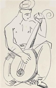 Duncan Grant, Lute Player, 1913-14